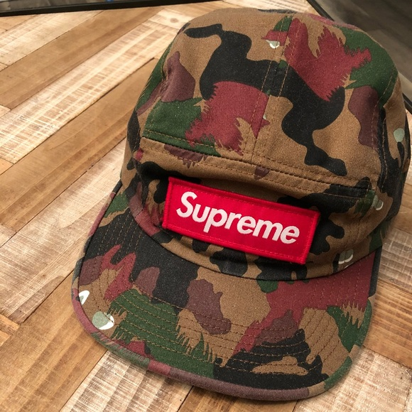 Supreme S S 17 Swiss Camo Military Camp Cap d475e3981dd3